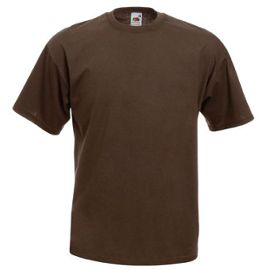 T Shirt Couleur Chocolat Tee Shirt Fruit Of The Loom_DATA